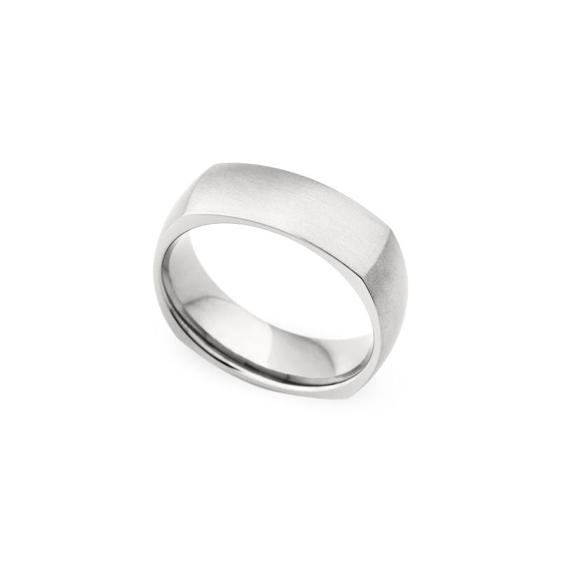 7mm Soft Corner Brushed Finish Wedding Band