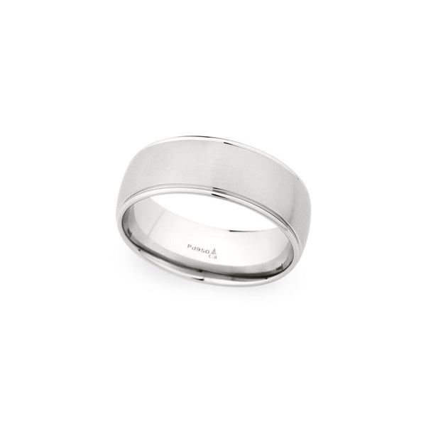8mm Brushed Center and Polished Edge Wedding Band