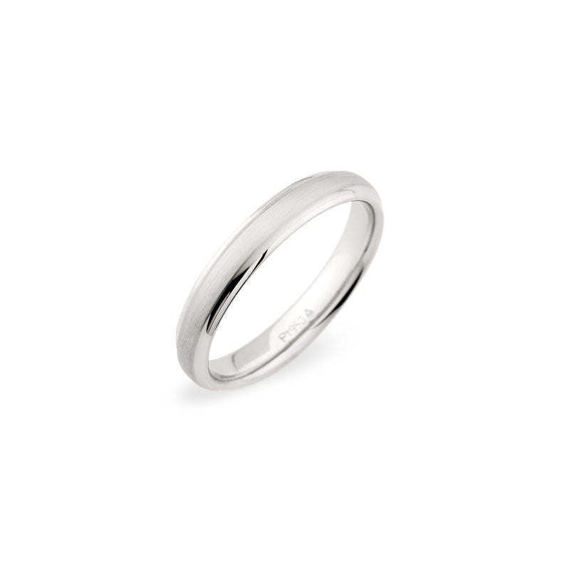 4mm Brushed Finish Center with Polished Edge Wedding Band
