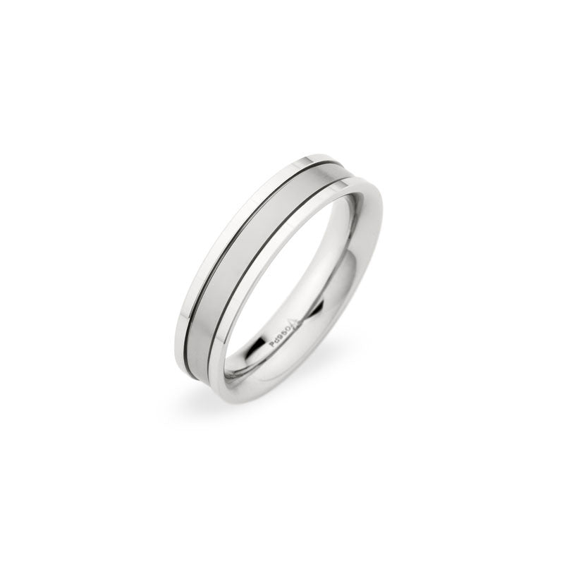 5.5mm Brushed Center and Polished Edge Weddng Band