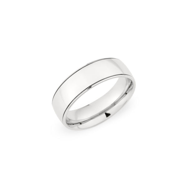 7.0mm Polished Finish Groove Wedding Band