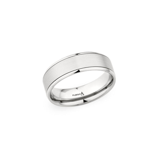 7.0mm Brushed Center with Polished Edge Wedding Band