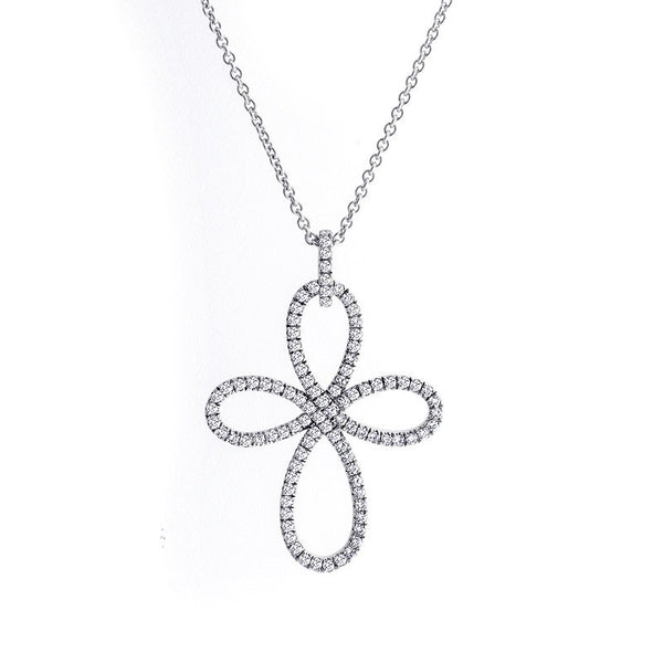 Infinity Collection Diamond Cross Pendant