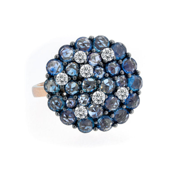 Tremezzo Collection Sapphire & Scattered Diamond Ring