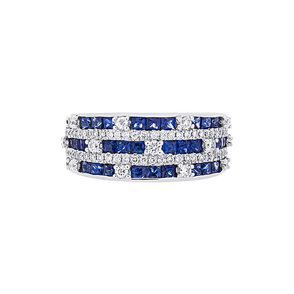 Tremezzo Collection Multi-row Sapphire & Diamond Ring