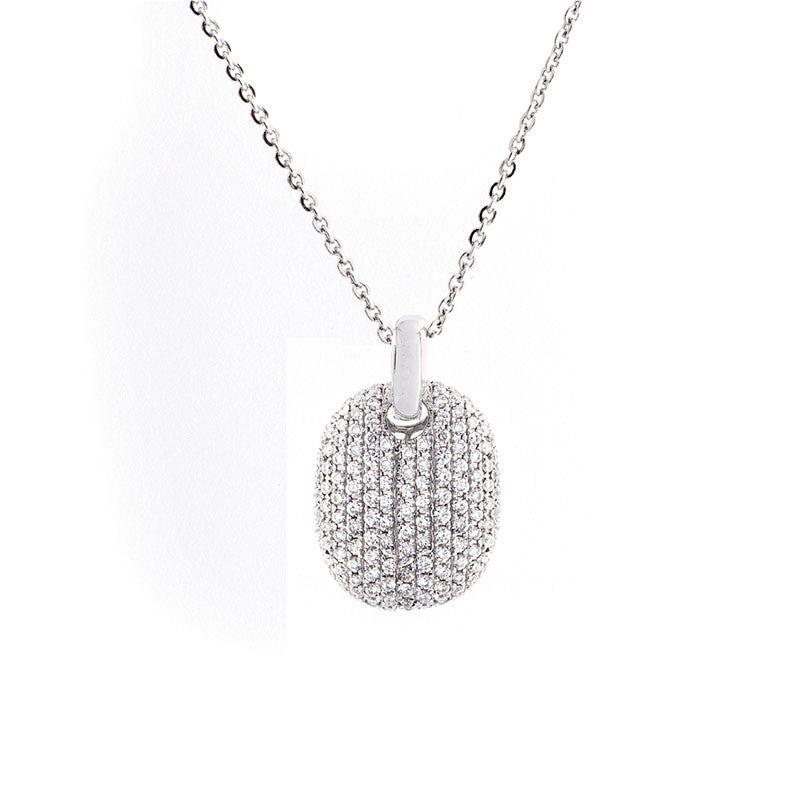Bellagio Collection Pave Diamond White Gold Necklace