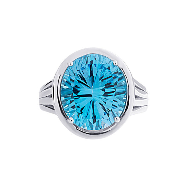 Lago Collection Blue Topaz Ring
