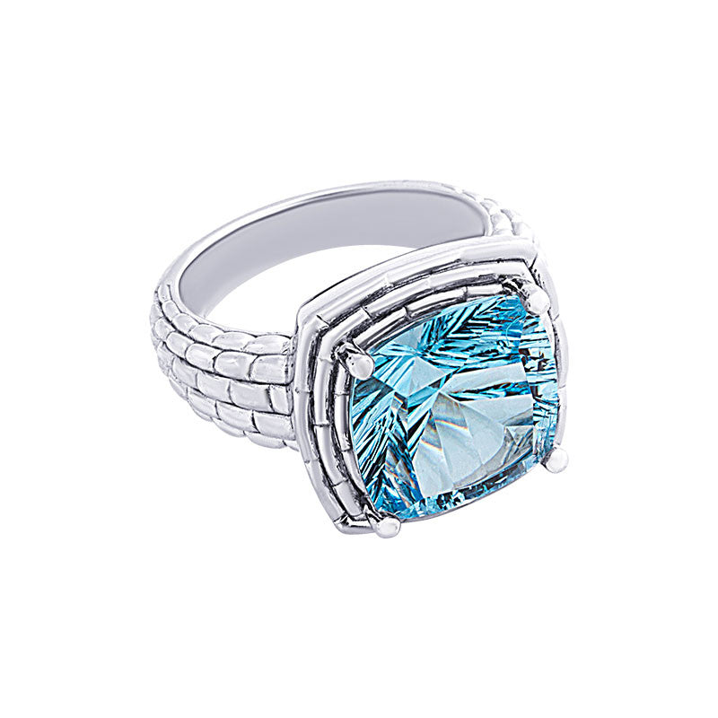 Pietra Collection Blue Topaz Panther Ring