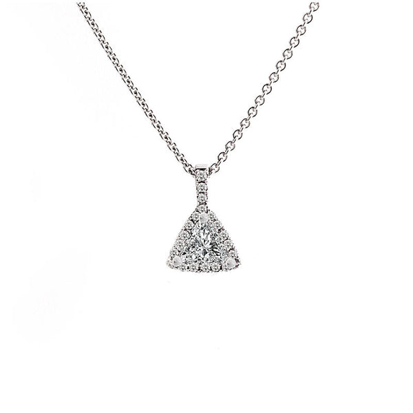 Aura Collection Triangle Diamond Pendant, 0.38 total carat