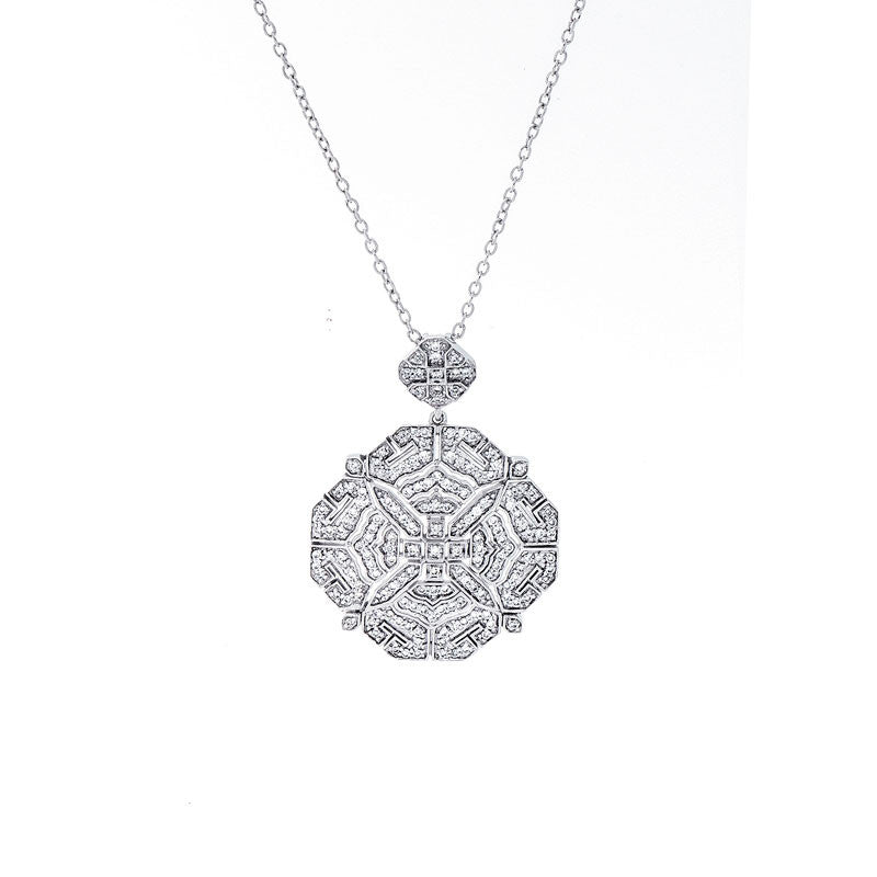 Vintage Diamond Octagon Shape Pendant