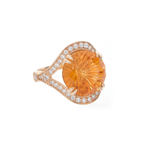 Giardino Collection John Dyer Round Citrine and Diamond Ring