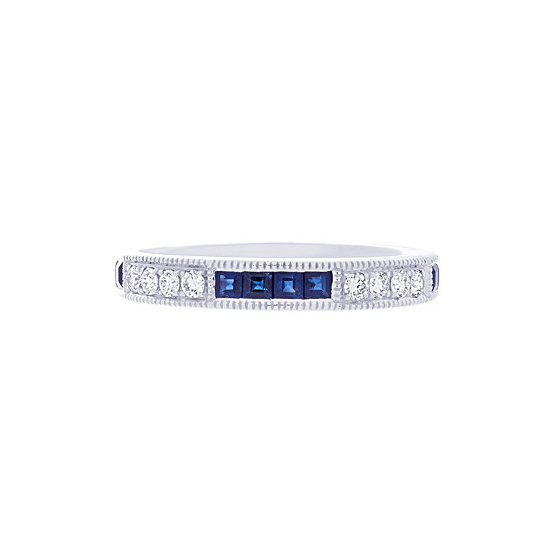 Tremezzo Collection Vintage Sapphire & Diamond Band