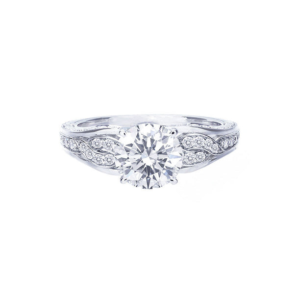Vintage Twisted Diamond Engagement Ring