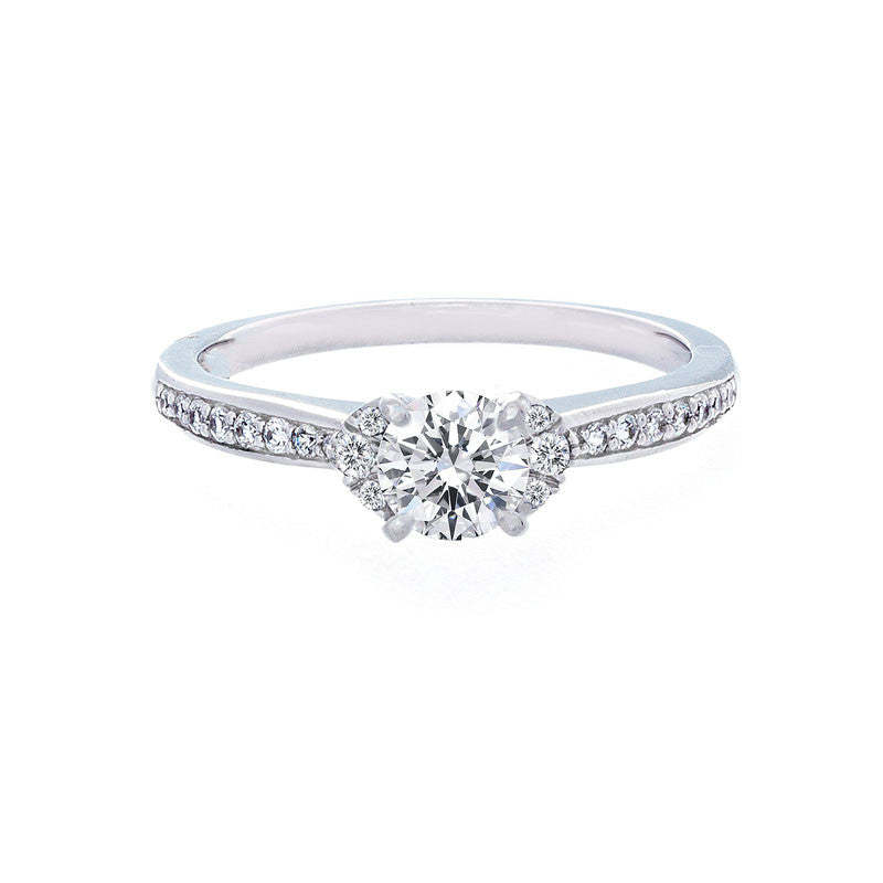 Petite Diamond Accent Engagement Ring