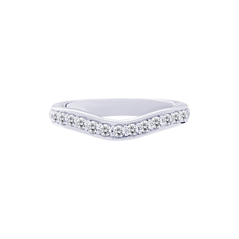 Curved Channel-set 0.50 Carat Diamond Eternity Wedding Band