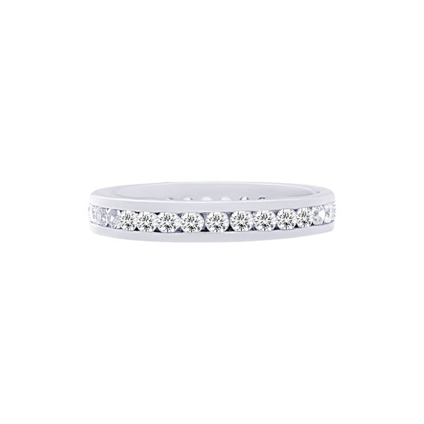 Classic 0.75 Carat Channel-set Diamond Eternity Wedding Band