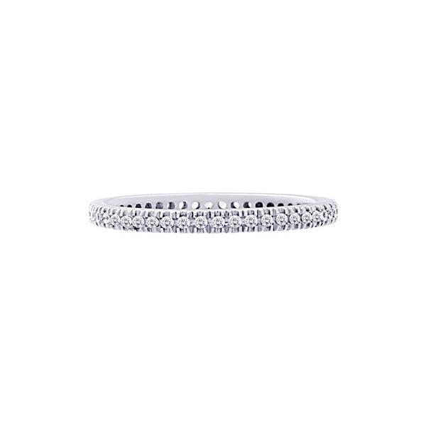 Four-prong 0.25 Carat Diamond Eternity Wedding Band