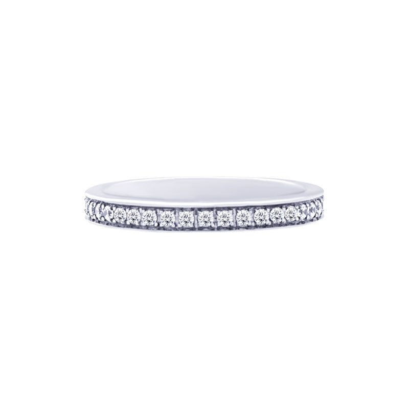 Shared-prong Bead-set 0.50 Carat Diamond Eternity Wedding Band