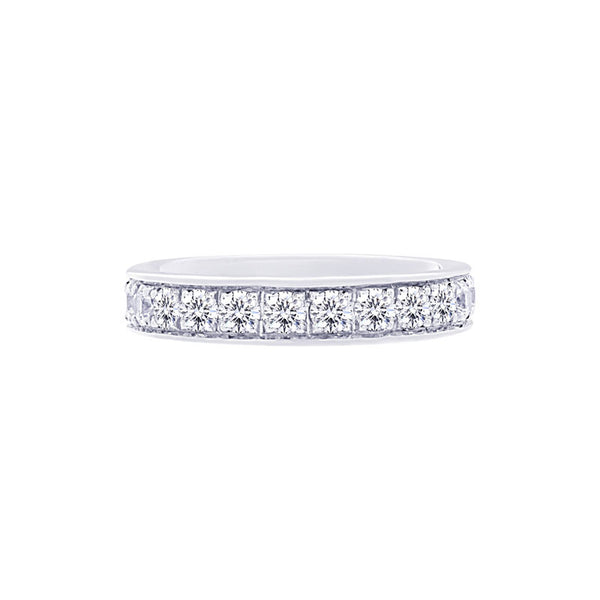 Shared-prong Bead-set 1.50 Carat Diamond Eternity Wedding Band