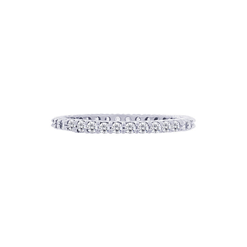 Shared-prong 0.50 Carat Diamond Eternity Wedding Band