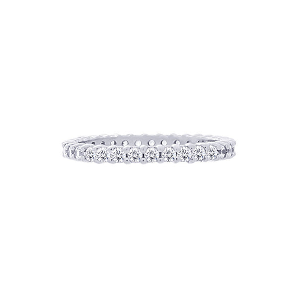 Shared-prong 0.75 Carat Diamond Eternity Wedding Band
