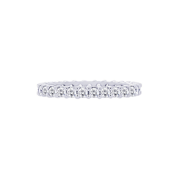 Shared-prong 1.00 Carat Diamond Eternity Wedding Band