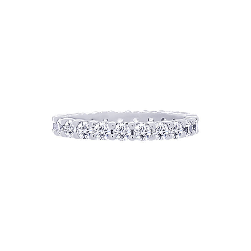 Shared-prong 1.25 Carat Diamond Eternity Wedding Band