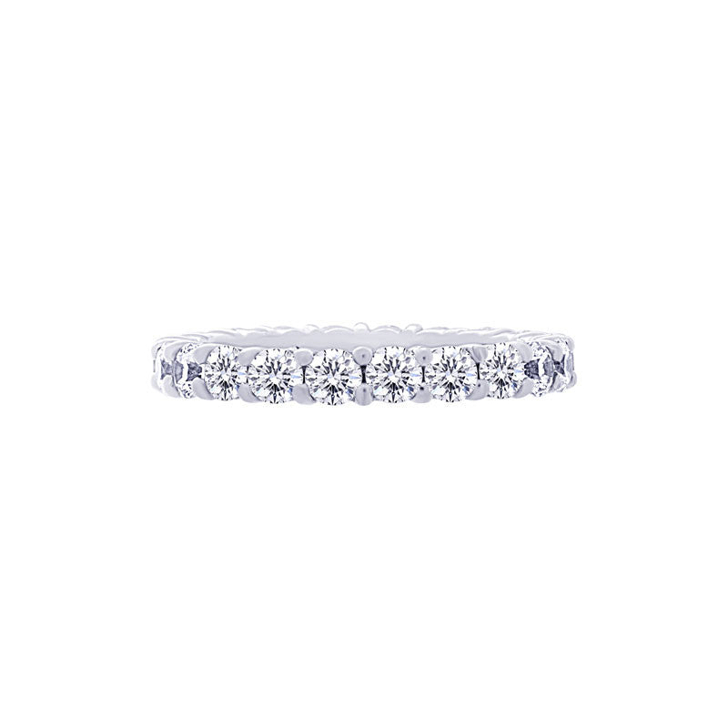 Shared-prong 1.75 Carat Diamond Eternity Wedding Band