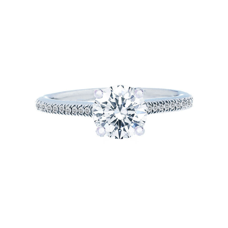 Classic 4 Prong Engagement with Petite Diamond Band