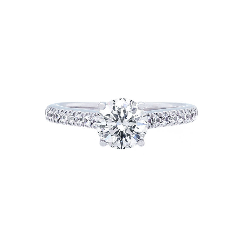 Classic 4 Prong Engagement with Diamond Band