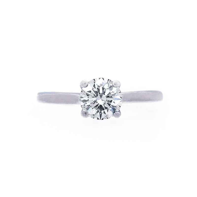 Trellis Setting Engagement Ring with a Polished Band