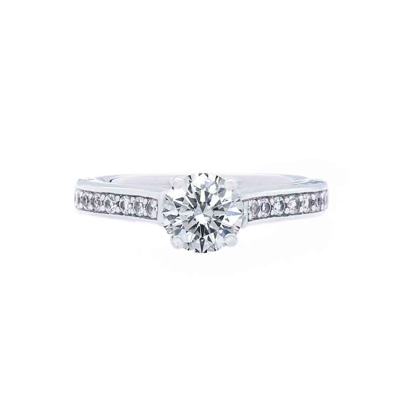 Diamond Bead Set Engagement Ring