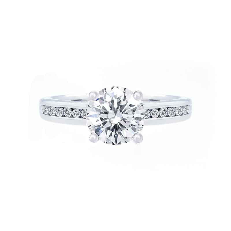 Classic Diamond Channel Engagement Ring