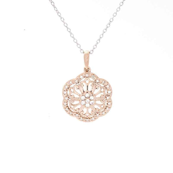 Flower Diamond Accent Pendant