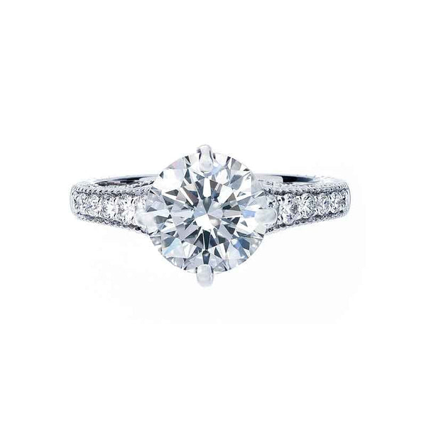 Forevermark Vintage Compass Setting Engagement Ring