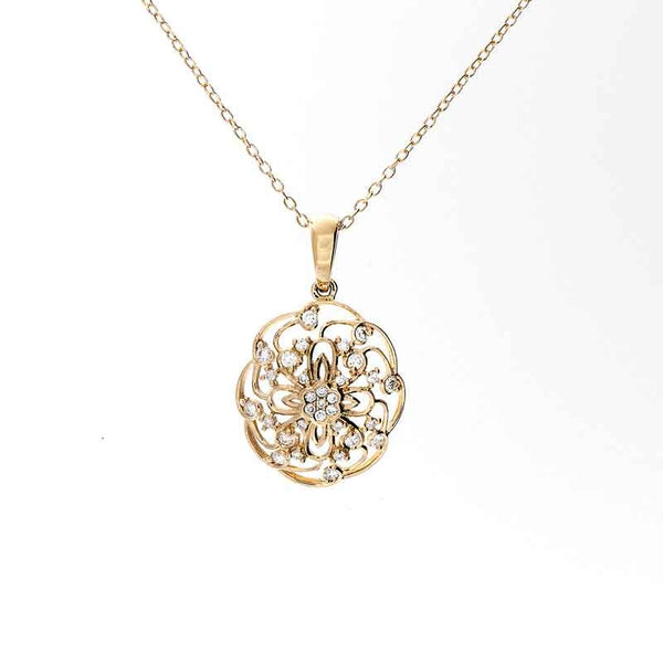 Bellagio Collection Circular Diamond Accent Pendant
