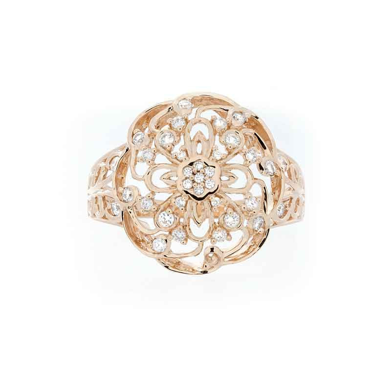 Bellagio Collection Circular Diamond Accent Ring