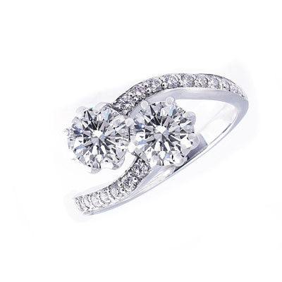 Forevermark Ever Us Curved Diamond Ring