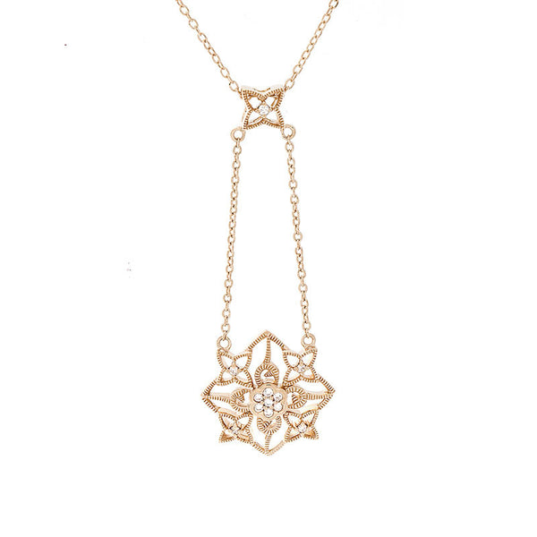 Bellagio Collection Flower Drop Diamond Accent Pendant