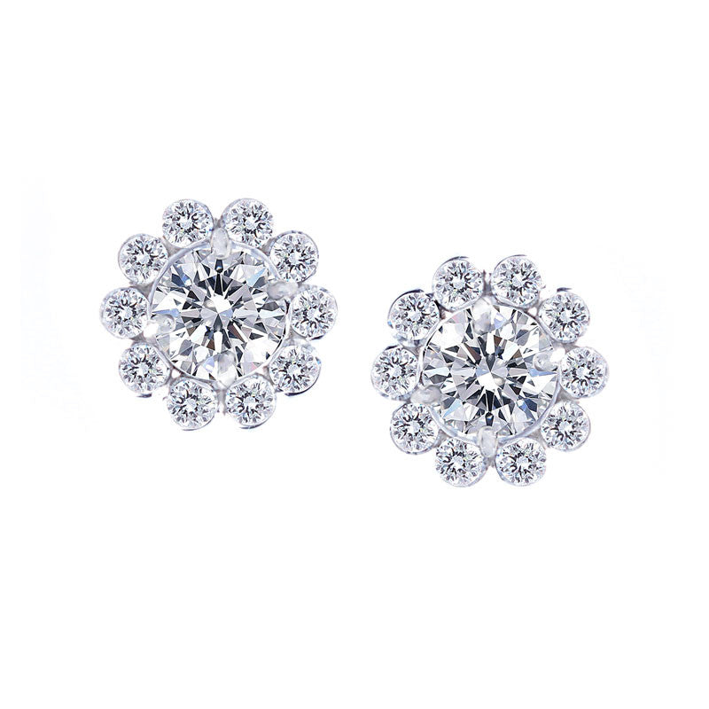 Forevermark Invisible Halo Diamond Earrings