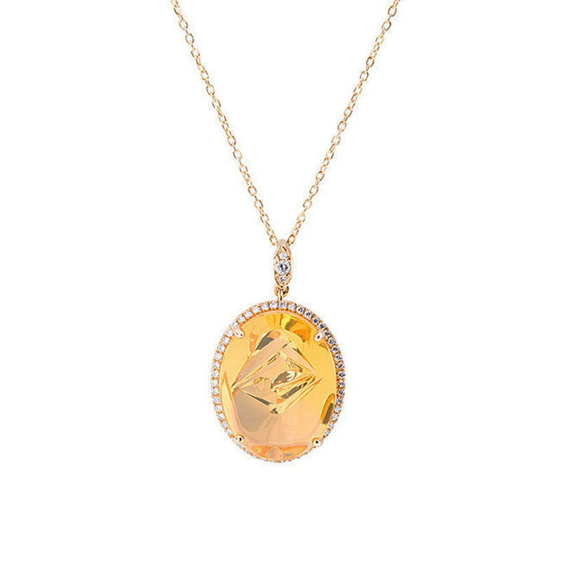 Giardino Collection Tom Munsteiner Oval Fire Opal Necklace