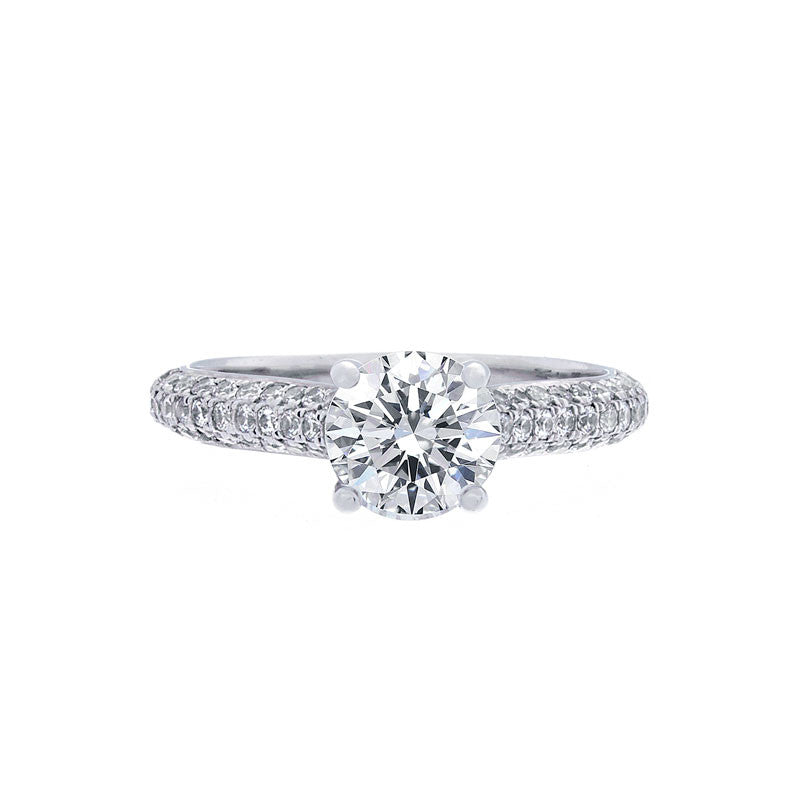 Multi-Row Pave Engagement Ring