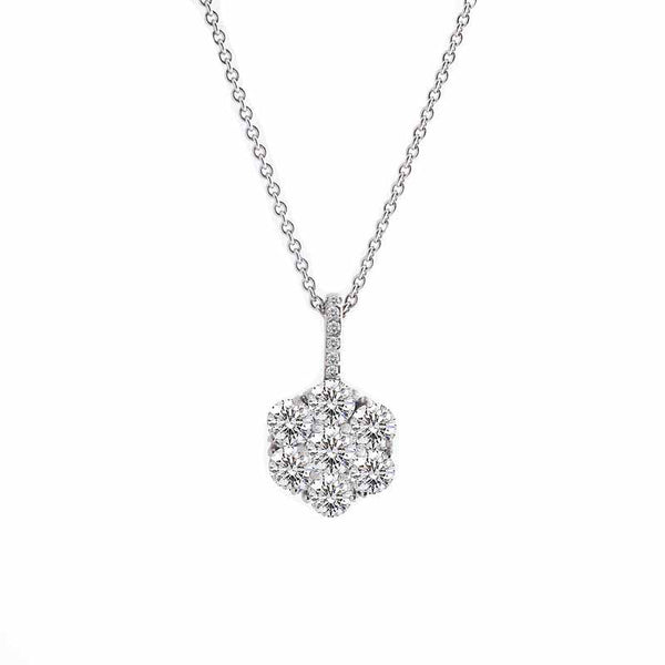 Harmony Jewel Collection Diamond Pendant, 4ct Look