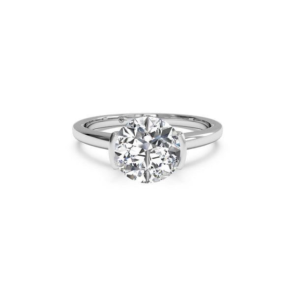 Ritani Semi-Bezel-Set Solitaire Round Brilliant Diamond Engagement Ring