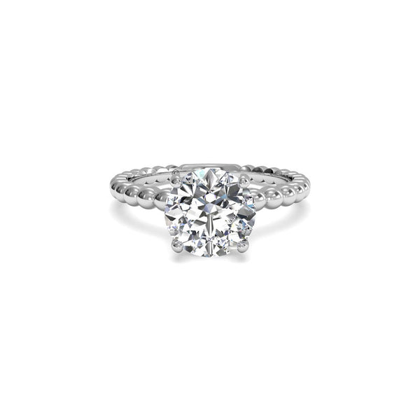 Ritani Fancy Solitaire Round Brilliant Diamond Engagement Ring