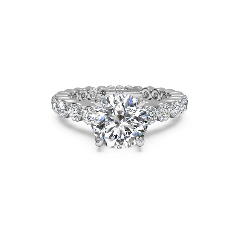 Ritani Shared-Prong Round Brilliant Diamond Engagement Ring