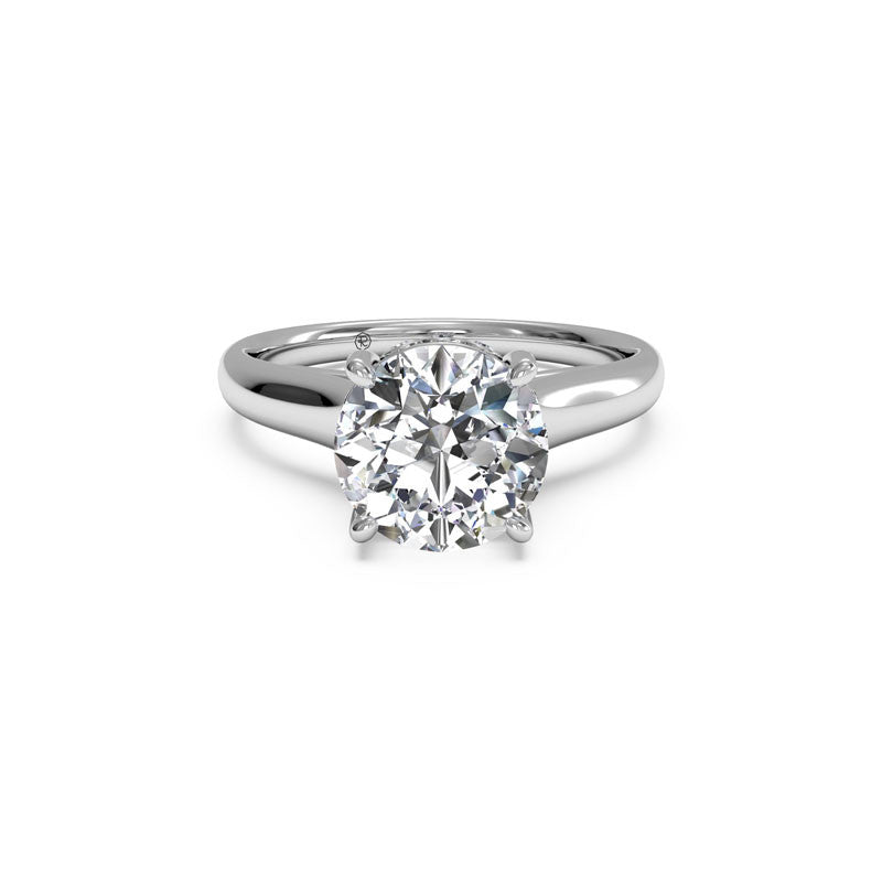 Ritani Solitaire Surprise Diamond Round Diamond Engagement Ring