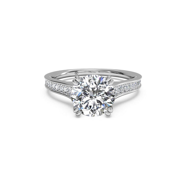 Ritani Round Brilliant Micropave Surprise Diamond Engagement Ring