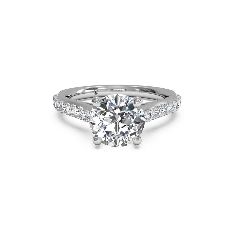 Ritani French-Set Surprise Diamond Round Diamond Engagement Ring