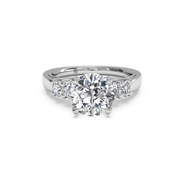 Ritani Five-Stone Trellis Round Brilliant Diamond Engagement Ring